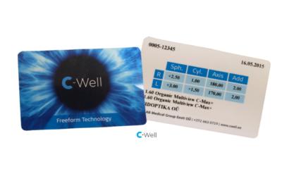 C-Well prilliklaasidega kaasa sertifikaat!